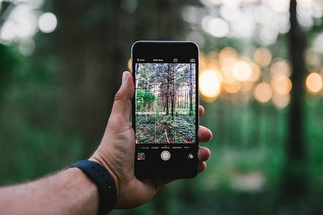 chytrý telefon na focení