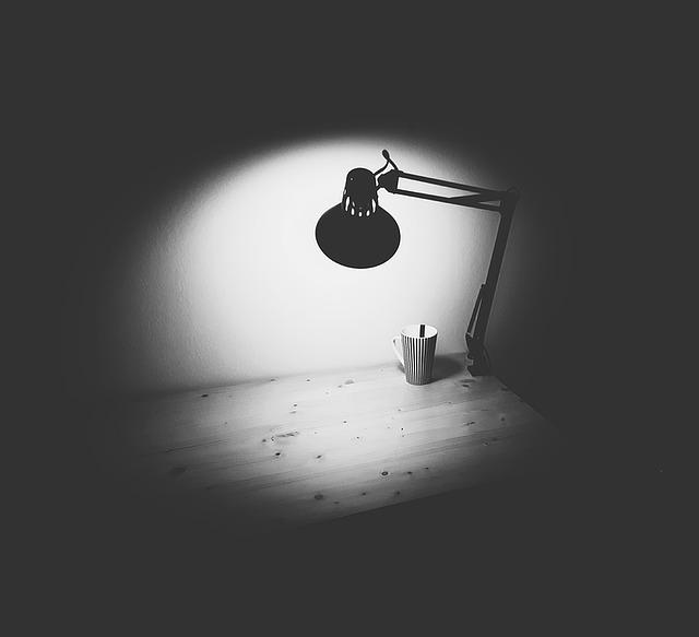 Osvětlení od lampičky