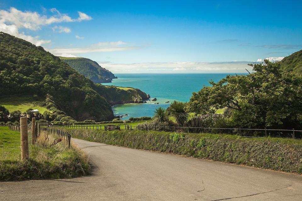pohled na záliv v Devonu