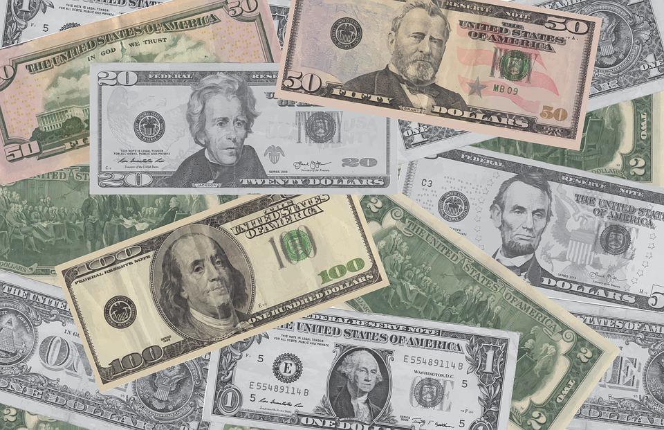 peníze Amerika